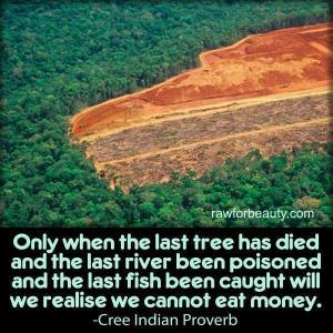 We can't eat Money